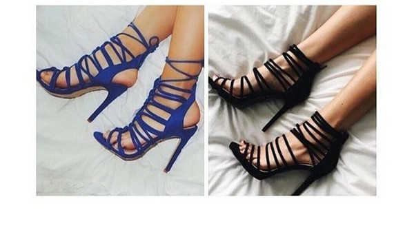 2e806ed2d274 Make A Wish Strappy Faux Suede Heels BLACK CHESTNUT NUDE WINE ...