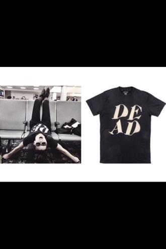 shirt lynn gunn lynn gvnn dead drop dead black pvris drop dead clothing black t-shirt