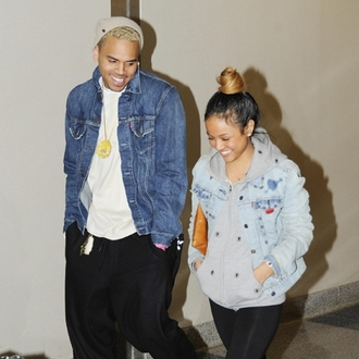 jacket chris brown karrueche