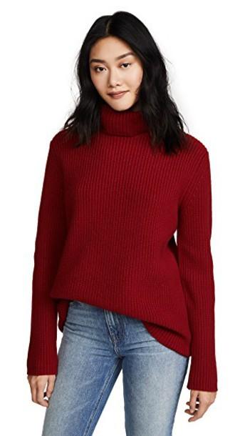 Jenni Kayne turtleneck red sweater