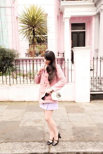 sweater skirt bag shoes the cherry blossom girl blogger coat