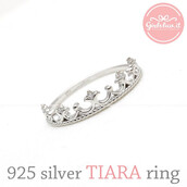jewels,jewelry,ring,sterling silver ring,tiara,tiara ring,princess jewelry,crown ring