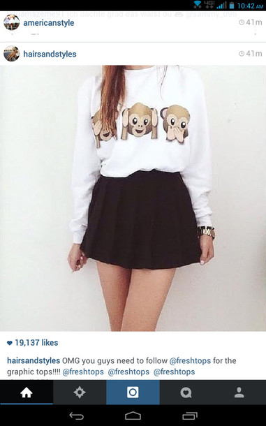 shirt blouse emoji shirt sweater t-shirt skirt