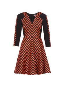 Folk stripe chevron dress