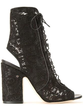women sandals lace cotton black shoes