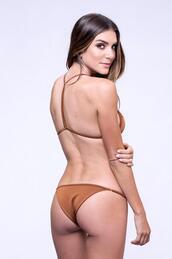 swimwear,bikini bottoms,brown,dbrie swim,full coverage bikini bottom,bikiniluxe