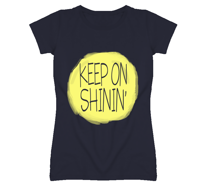 Keep On Shining Cute Sun Graphic T Shirt