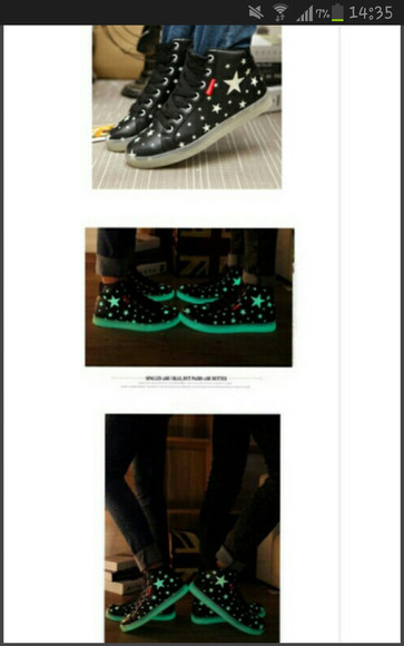 stars glow in the dark glow cute shoes wheretoget?