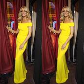 dress,tess daly,strictly,yellow gown