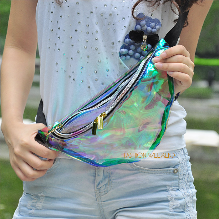 Aliexpress.com : Buy 2014 Harajuku Hologram Laser Backpack Girl School Bag Shoulder Women Rainbow Colorful Metallic Silver Laser Holographic Backpack from Reliable bag carabiner suppliers on FASHION WEEKEND