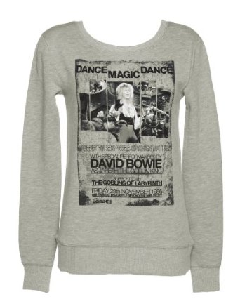 Ladies dance magic dance labyrinth poster sweater: amazon.co.uk: clothing