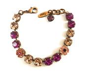 jewels,swarovski,bracelets,bling,8mm bracelet,fuchsia,fuchsia bracelet,fuchsia wedding,crystal bracelet,vintage rose,victoria style,romantic bracelet,vintage style jewelry,elegant bling,gifts for her,designer jewelry,flower bracelet,embellished bracelet,stacking bracelet,siggyjewelry,mariana inspired,sabika inspired
