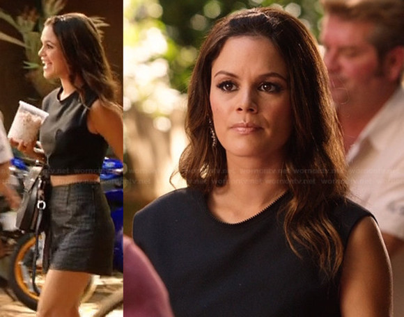 rachel bilson top hart of dixie leather top