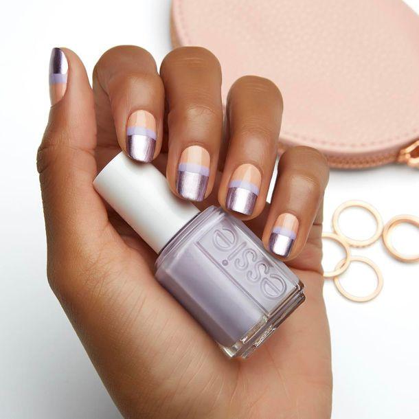 nail polish, tumblr, nails, metallic nails, metallic, grey, essie ...