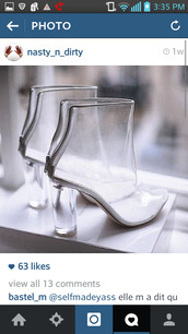 shoes,clear boots,clear shoes,clear heels,clear heel,see through heels,senso