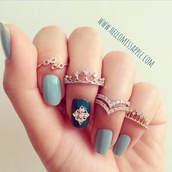 jewels,ring,nail polish,bling,bagues,rings and tings,crown ring,couronne,crown,finger rings,gold ring,infinity ring,nail accessories,nail stickers,rings gold crown,tumblr,Accessory,fashion,jewelry ring,rings and jewelry