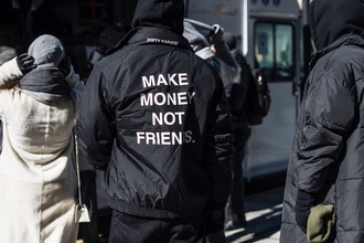 jacket make money not friends mens jacket black jacket
