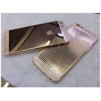 phone cover gold diamonds iphone case