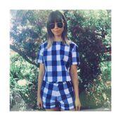 shorts,set,matching set,checkered,checkered print,check print,top,picnic,Toby heart ginger,peppermayo