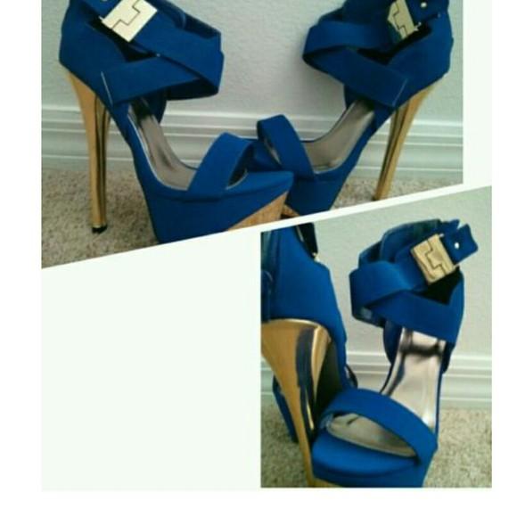 high heels cobalt charlotte russe