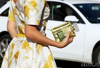 bag perfume clutch see through designer