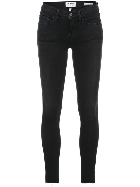 Frame Denim jeans skinny jeans women spandex cotton black