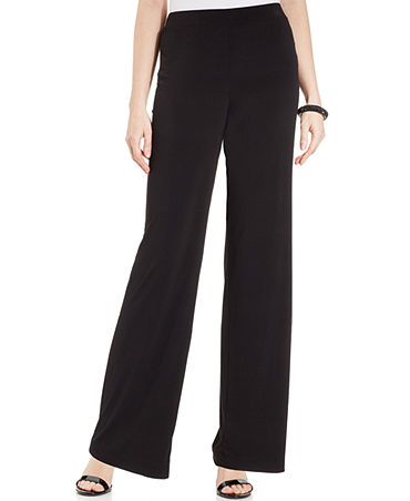 NY Collection Wide-Leg Palazzo Pants - Women - Macy's