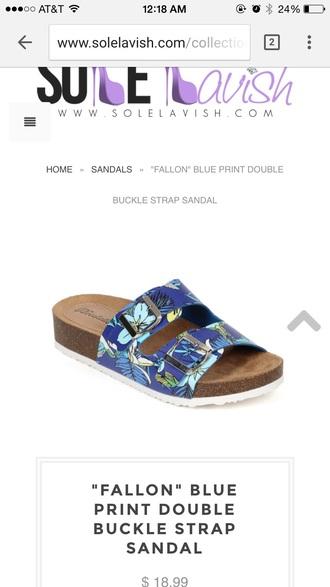 shoes sandals flat sandals blue sandals blue shoes royal blu baby blu