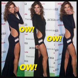 alessandra ambrosio sexy dress party dress