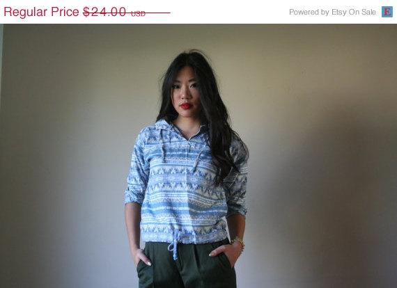 50 off sale 90s hoodie / ethnic aztec southwest by closetcasevntg