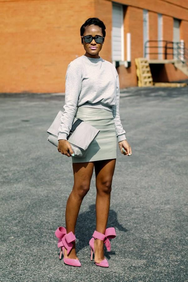 the daileigh t-shirt skirt sunglasses bag shoes
