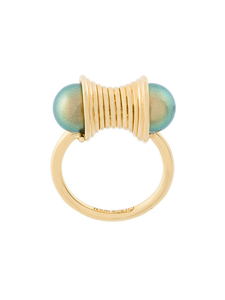 Wouters & Hendrix women pearl ring gold silver grey metallic jewels