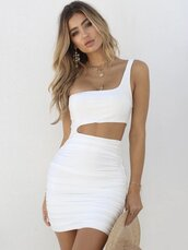 dress,dressofgirl,white dress,bodycon dress,mini dress,off the shoulder
