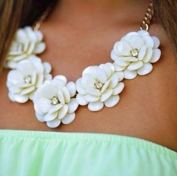 jewels necklace floral diamonds