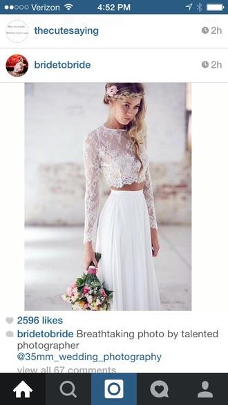 dress crop tops wedding dress evening dress hipster wedding