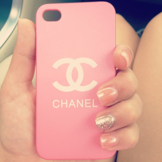 nail polish pink iphone iphone 4 case chanel iphone cover chanel inspired hard case jewels ipadiphonecase.com love white pretty girly bag phone cover pink chanel case chanel iphone case
