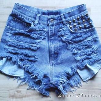 shorts ripped shorts denim jeans studded shorts frayed shorts high waisted shorts