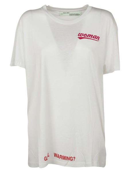 Off-White t-shirt shirt printed t-shirt t-shirt white top