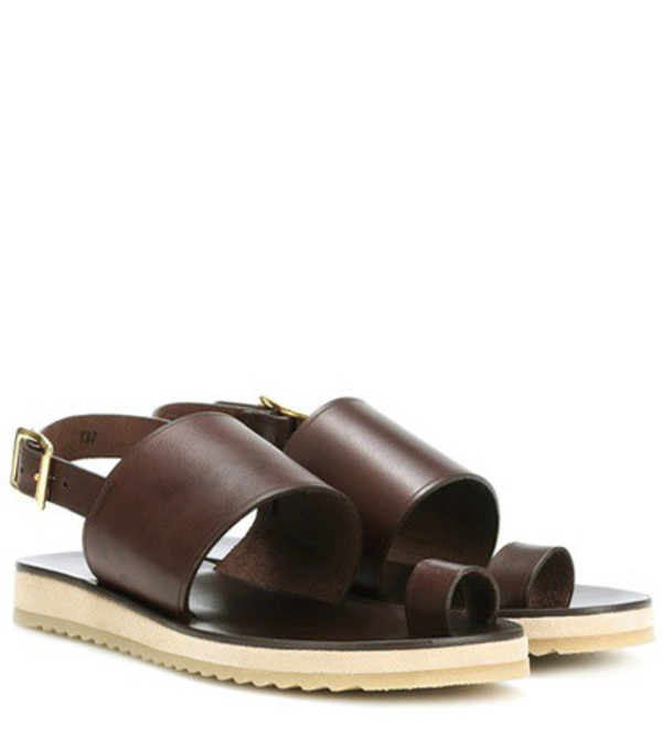 A.P.C. Rome leather sandals in brown