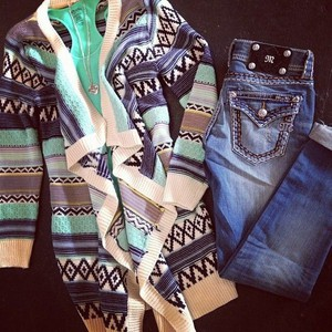 cardigan aztec sweater