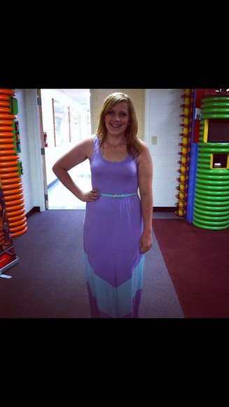 dress purple dress tank sleeves maxi dress