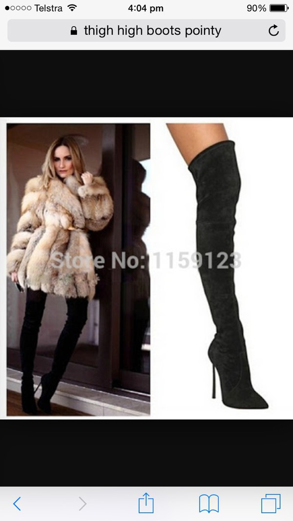 c09aed25d7 Laurel Black Over the Knee Heeled Boots