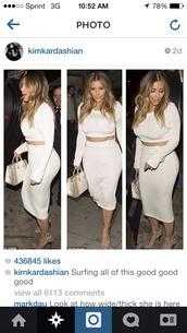 t-shirt,kim kardashian,skirt