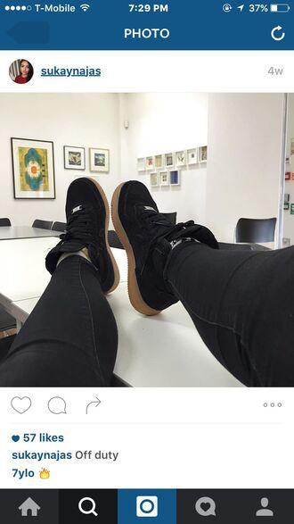 shoes nike airforce 1 nike air force 1 nike air nike air force 1 high top black velvet beautiful sneakers nike sneakers swag instagram