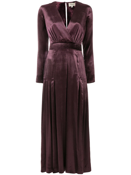 Temperley London jumpsuit women spandex silk purple pink