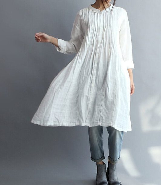 shirt cotton long shirt top