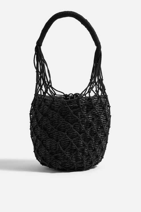 Siren String Tote Bag - Black