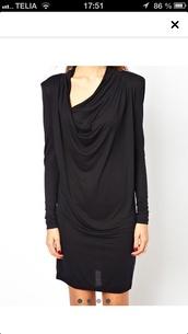dress,little black dress,draped dress