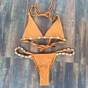 swimwear,bikini,bikini top,bikini bottoms,orange
