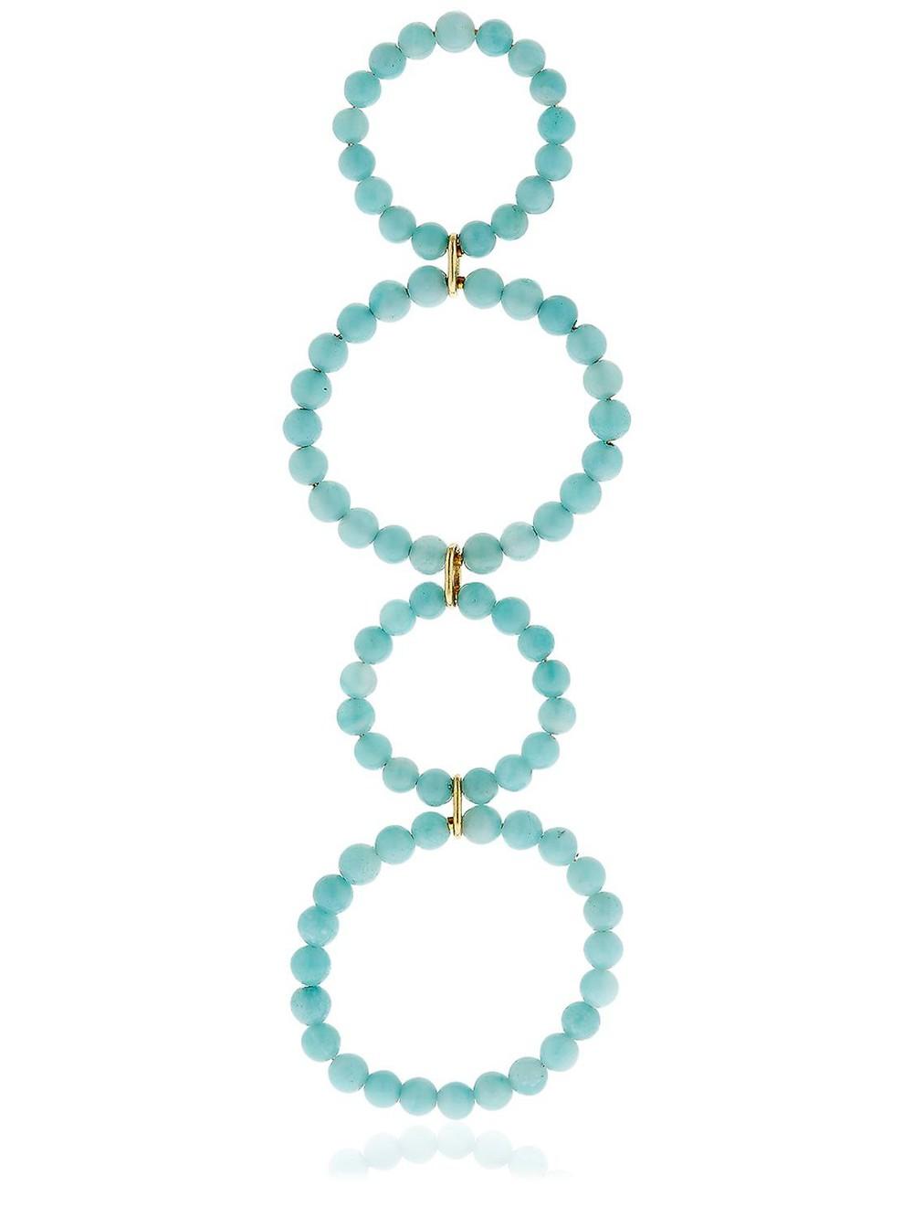SASKIA DIEZ Holiday Long Mono Earring in blue